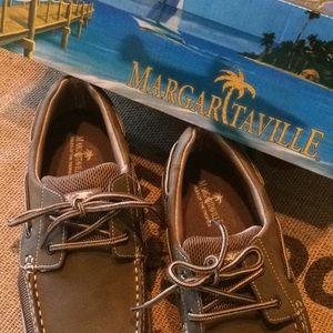 NWT Margaritaville Boatshoes -Jimmy Buffet in Palm